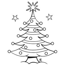 230x230 Top 20 Free Printable Christmas Tree Coloring Pages Online
