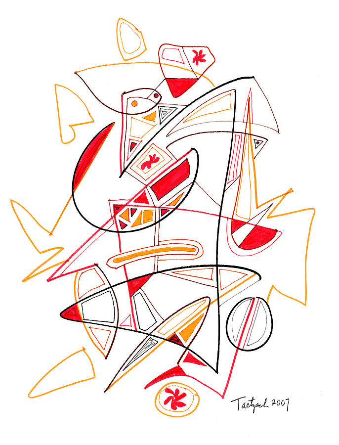 686x900 Modern Drawing 118 Drawing By Lynne Taetzsch