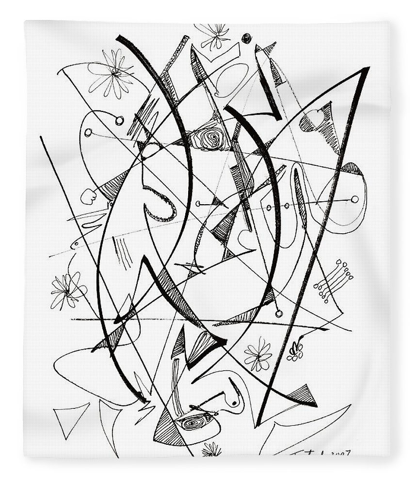 860x1000 Modern Drawing 124 Fleece Blanket For Sale By Lynne Taetzsch