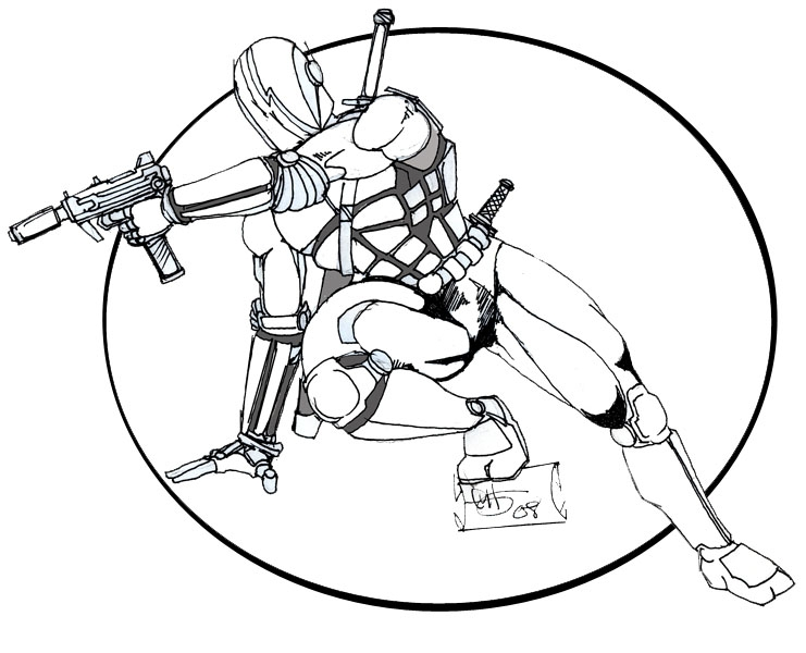 741x600 Modern Ninja , In Chad Sunstar's Pencils Comic Art Gallery Room