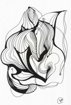 236x347 Pen And Ink Abstract Drawing My Style, Friends, Moments