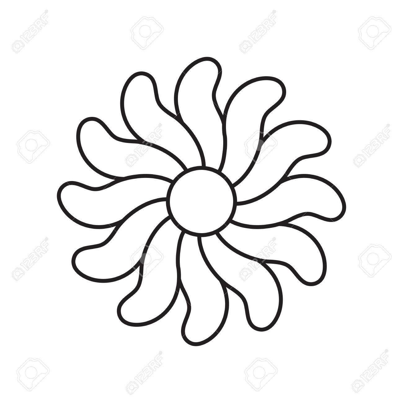 1300x1300 Flower Vector Icon, Logo, Template, Pictogram. Modern Emblem