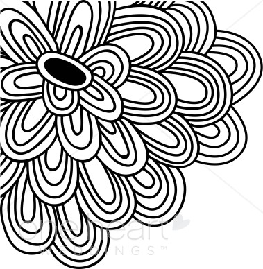 Modern flower drawing at getdrawings free for personal use 379x388 black flower clipart flower clipart mightylinksfo