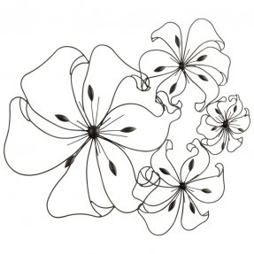 287x287 Ceramic Flower Wall Art