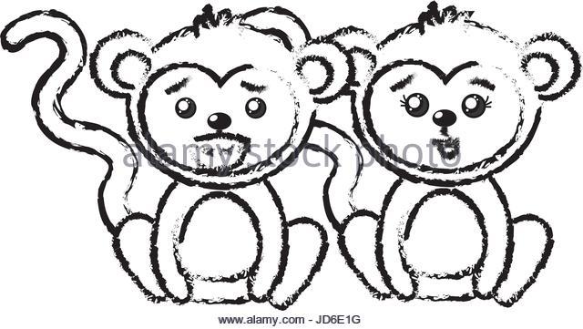 640x361 Funny Cartoon Monkey Black And White Stock Photos Amp Images