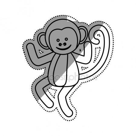 450x450 Cute Mokey Cartoon Stock Vector Djv