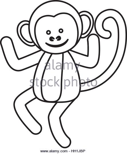 443x540 Cute Mokey Cartoon Icon Vector Stock Photos Amp Cute Mokey Cartoon