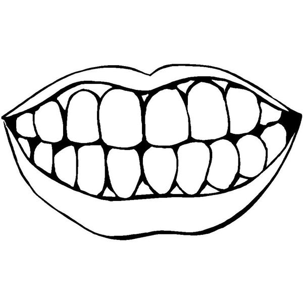 600x600 Best Photos Of Printable Mouth With Teeth