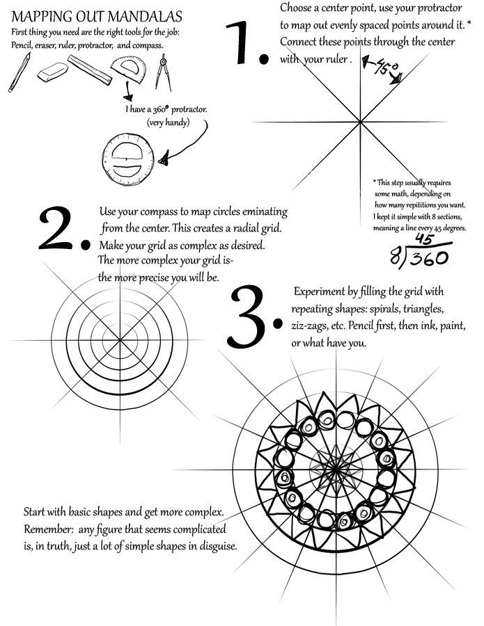 695x900 Mapping Out Mandalas Tutorial By Idea