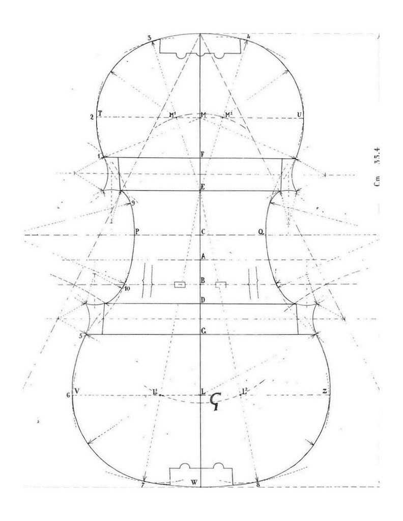 792x1024 Stradivari G Mold Construction, Instruments And Guitars
