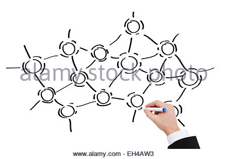 450x315 Close Up Of Businessman Drawing Molecules Stock Photo 72605056
