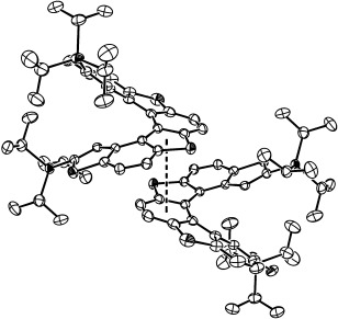 308x291 Perspective Drawing Of The Stacked Molecules Of 4b.