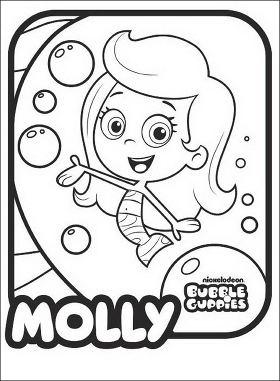 560x762 Bubble Guppies Molly Line Drawing Online Coloring Pagesjokilol