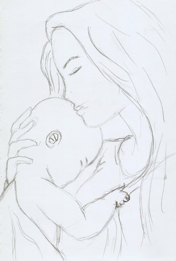 Mom And Child Drawing