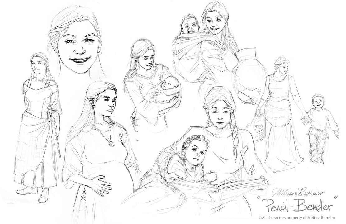 1111x719 Mother And Son By Pencil Bender