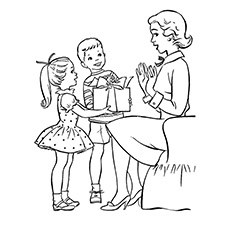 230x230 Child Presenting Flower To His Mother Children Giving Gift To Mom