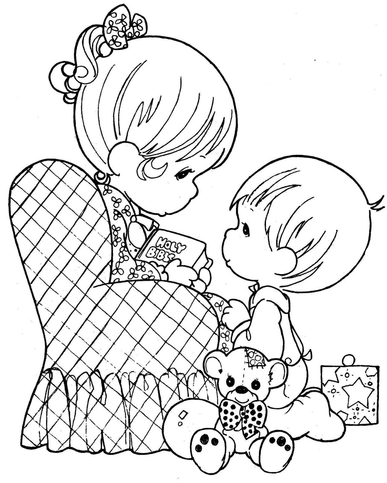 1282x1600 Drawing Of Mom Reading With Your Child To Color ~ Child Coloring