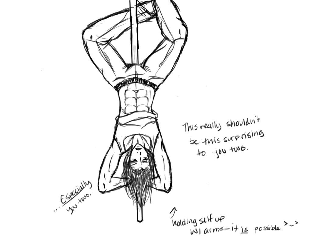 1021x783 Pole Dancing Mom Drawing Kingdom Hearts Riku Pole Dancing By