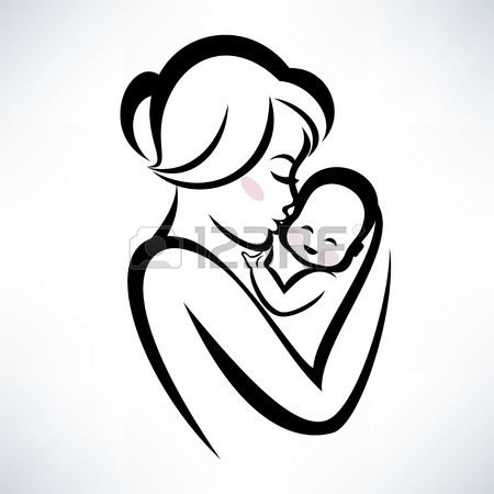 450x450 Mom And Baby Vector Icon Royalty Free Cliparts, Vectors, And Stock