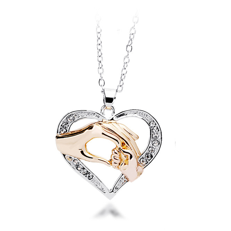 800x800 Mothers Day Gift Mother Baby Hand Holding Love Heart Pendant