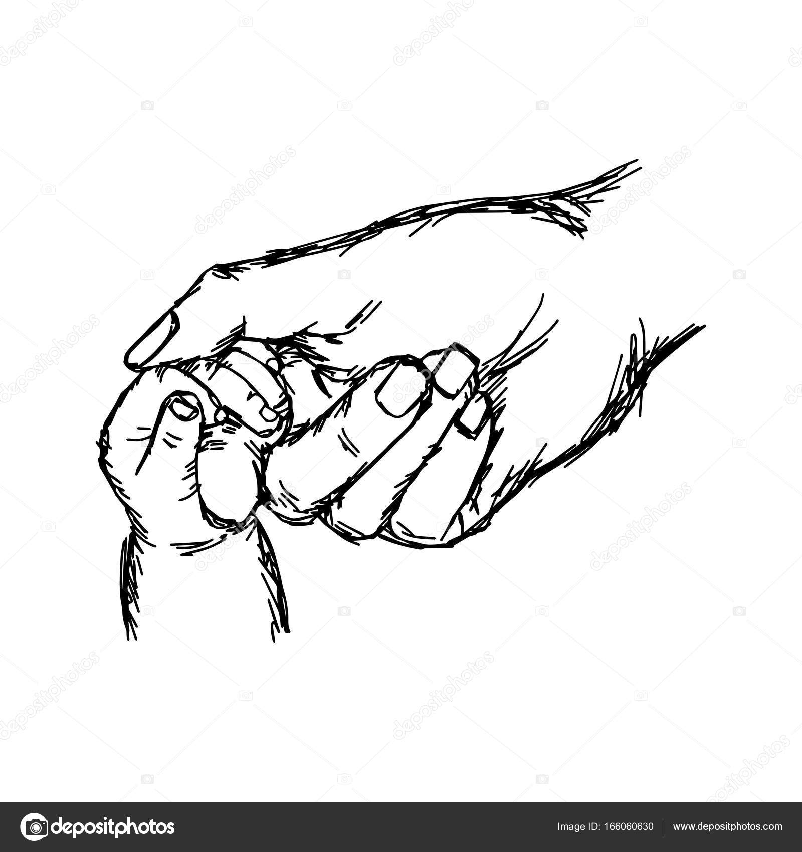 1600x1700 Close Up Hand Of Baby And Mother Holding Together Vector