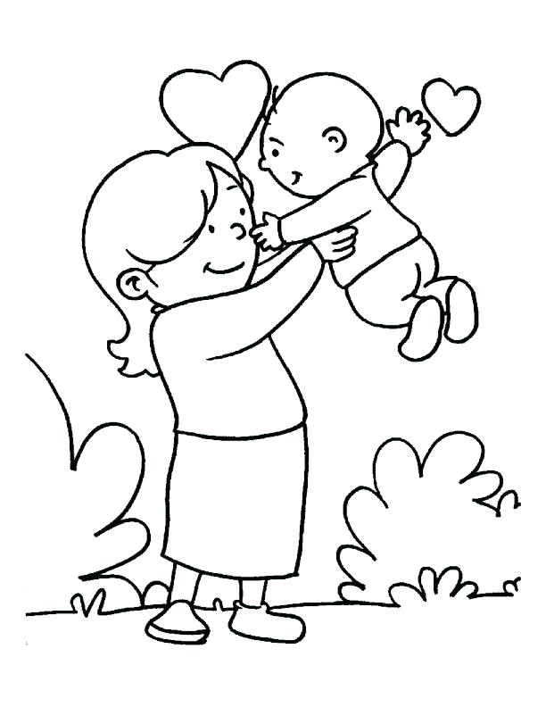612x792 Mommy Coloring Pages Moms Coloring Pages In The Loving Care Of Her