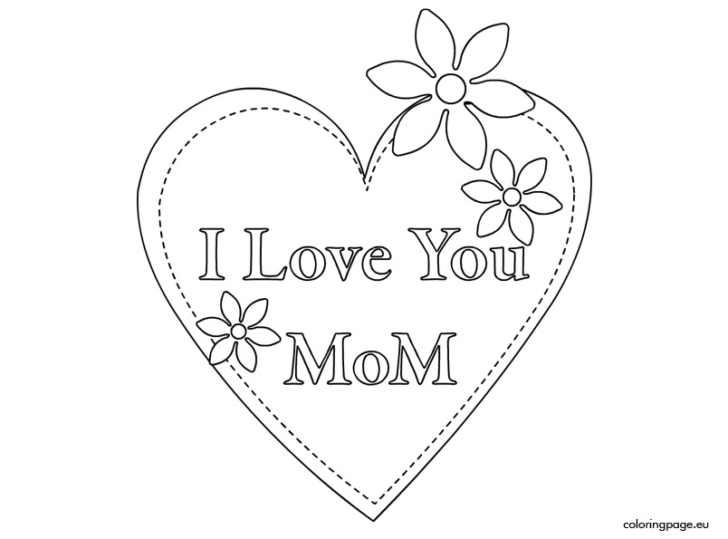804x595 Breathtaking I Love Mom Coloring Pages 81 About Remodel Coloring