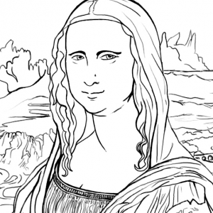 Mona Lisa Drawing at GetDrawings.com | Free for personal use Mona ...