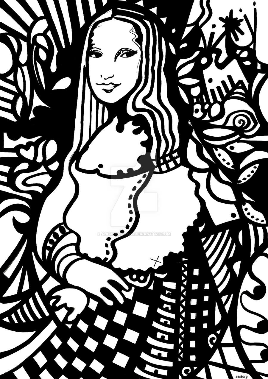900x1273 Mona Lisa By Audreyastorg