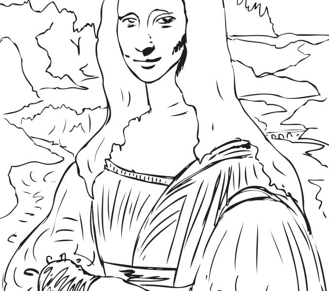 Mona Lisa Drawing at GetDrawings.com | Free for personal use ...