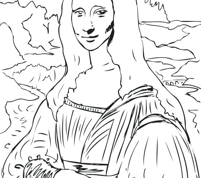 Mona Lisa Drawing at GetDrawings | Free download
