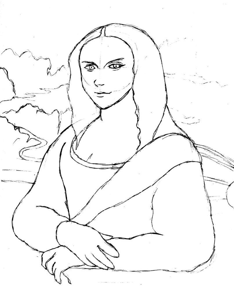807x989 Mona Lisa Practice Sketch By Alphakazuya