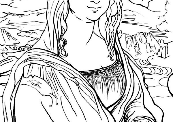 600x425 Mona Lisa Coloring Page Mona Lisa Coloring Page Batch Coloring