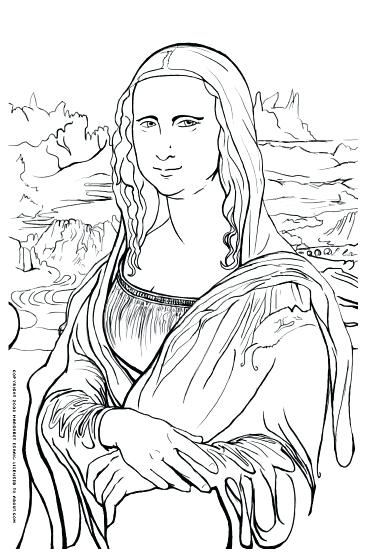 367x555 Good Mona Lisa Coloring Page And Pretty Coloring Pages 14 Mona