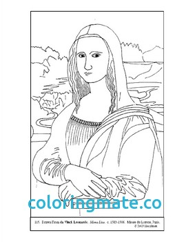 270x350 Mona Lisa Coloring Page Unique Mona Lisa Color By Number Images