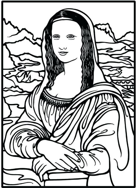 Mona Lisa Line Drawing at GetDrawings.com | Free for personal use ...