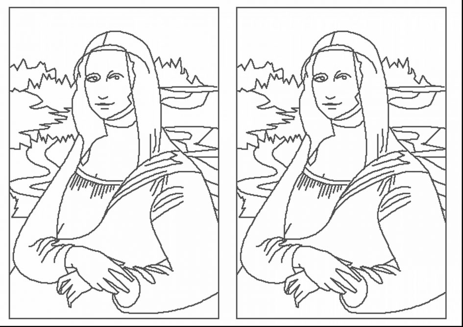 945x668 Mona Lisa Outline Drawings Line Drawing Mona Lisa