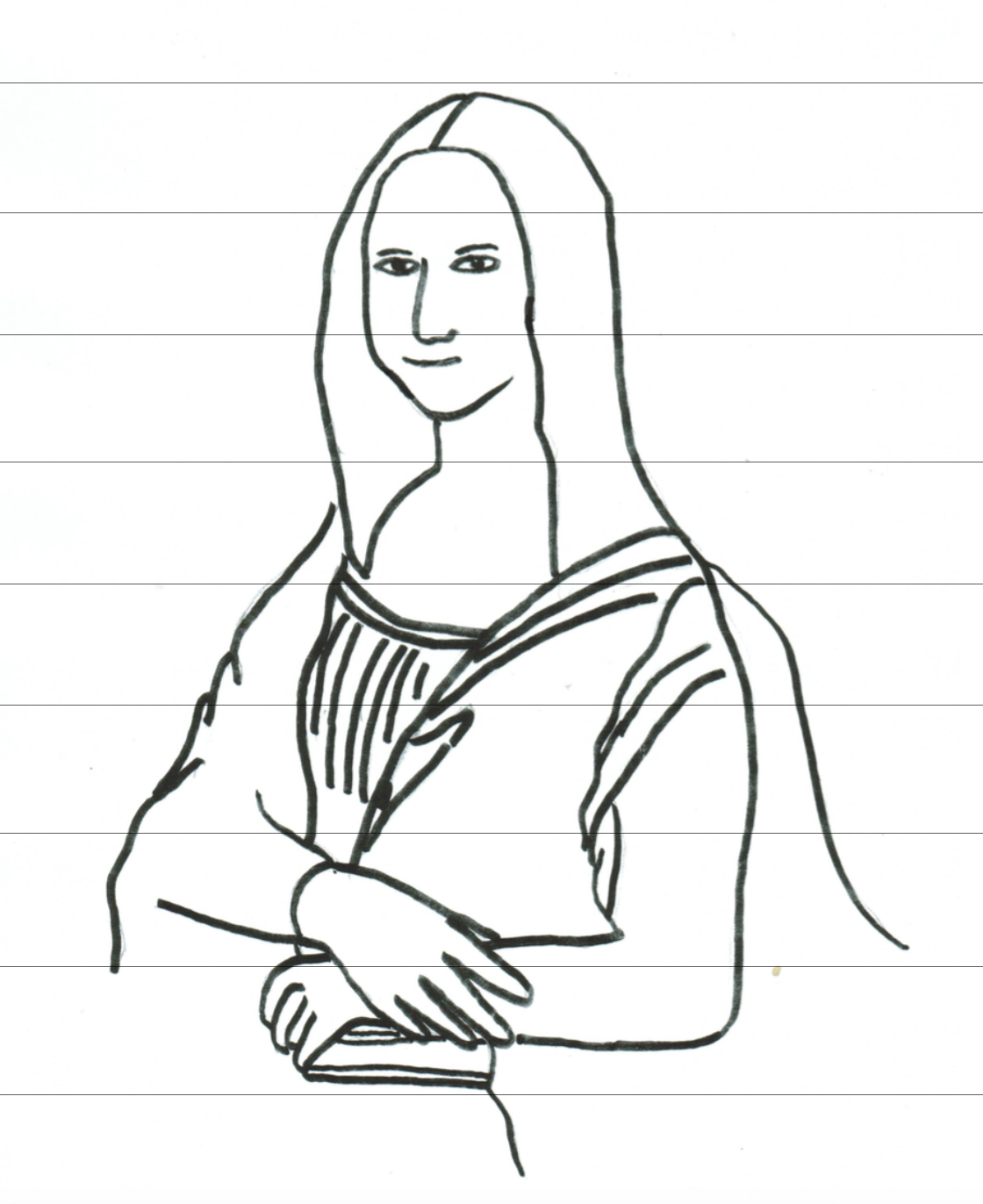 1120x1372 Mona Lisa Outline Drawings Line Drawing Mona Lisa