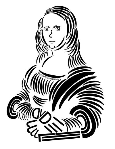 400x518 Mona Lisa Trebuchet Typography By Offernandinhoon