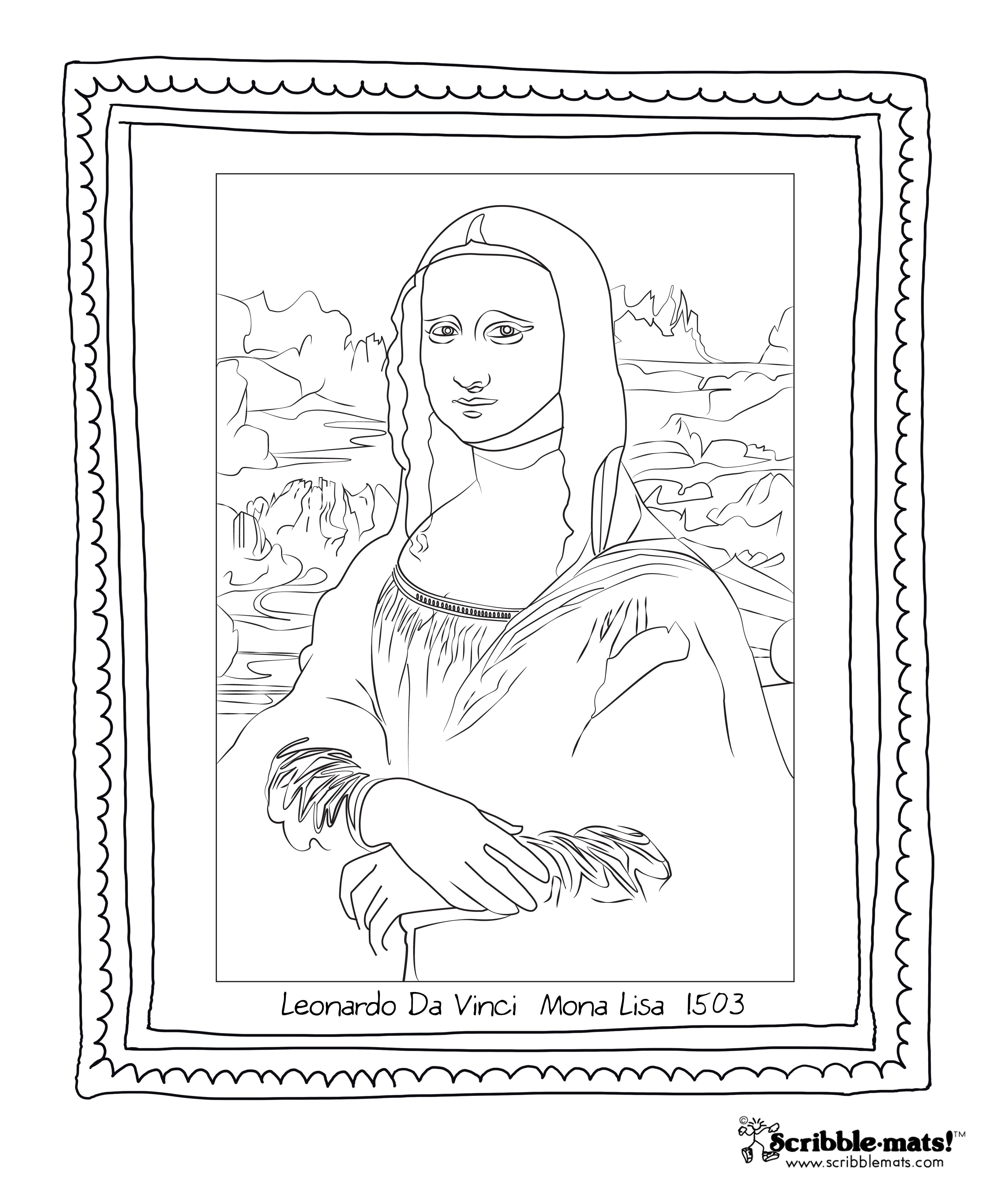 3600x4350 Scribble Blog Inspiring Creativity Mona Lisa