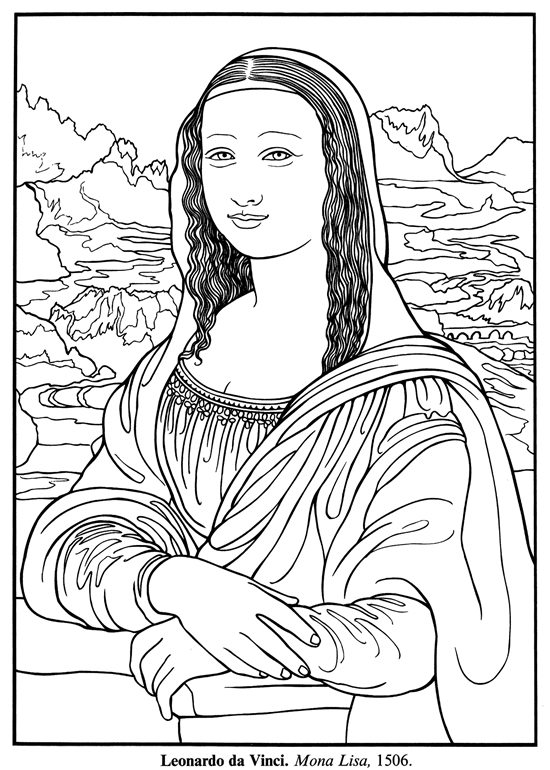 550x770 Freebie Mona Lisa Dover Publications, Mona Lisa And Picasso