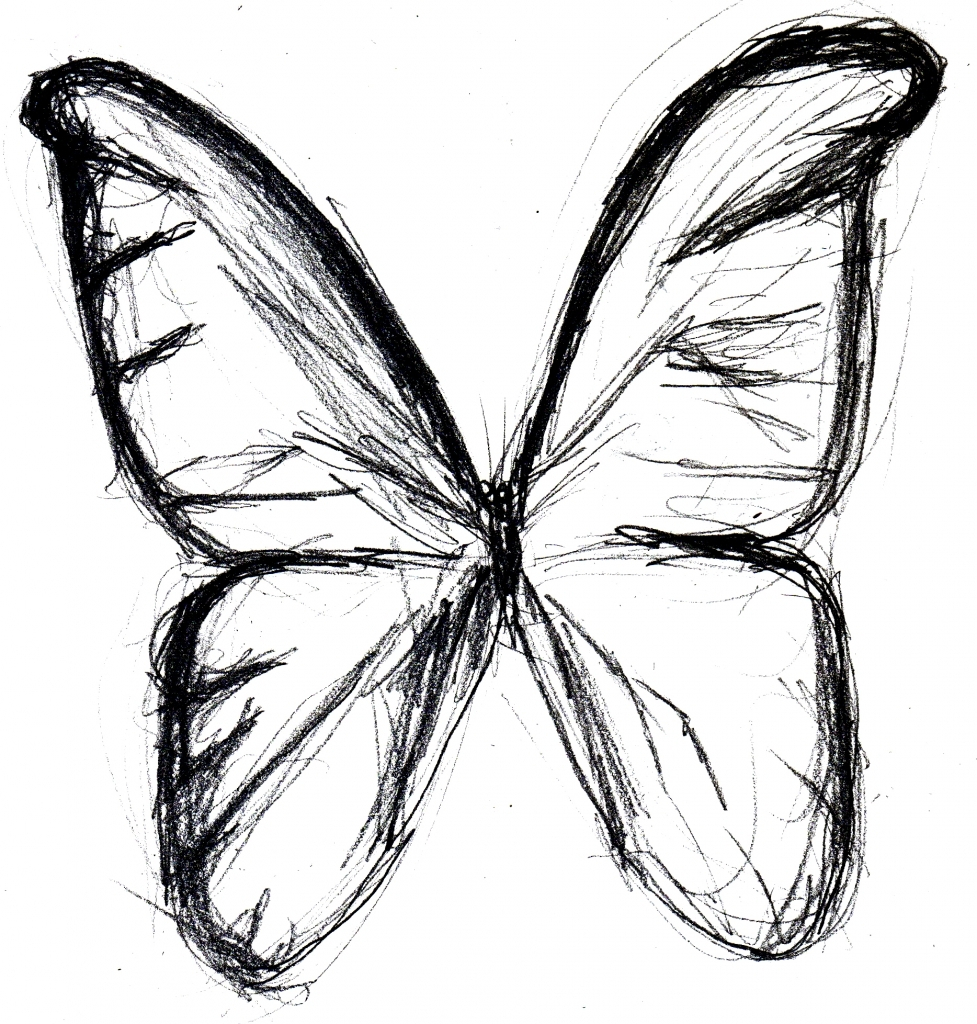 977x1024 Best Butterfly Drawing Best Photos Of Butterfly Line Drawing