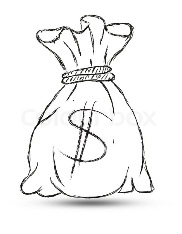 623x800 Doodle Style Money Bag Finance And Business Stock Photo Colourbox