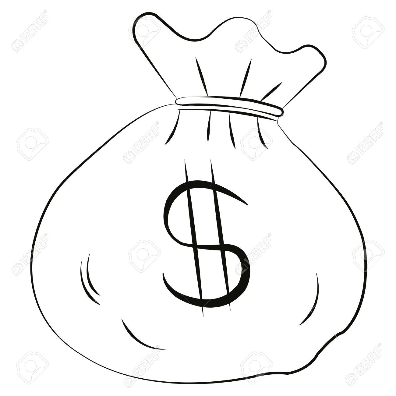 1300x1300 Vector Money Bag Is Isolated On A White Background. Royalty Free