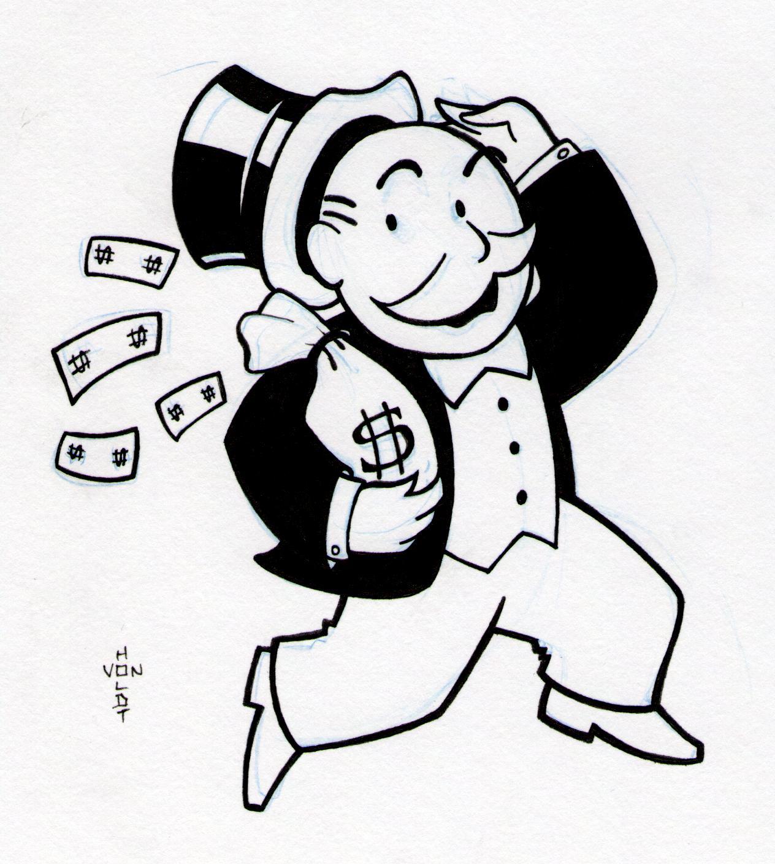 1264x1408 Money Bags Doodle A Day