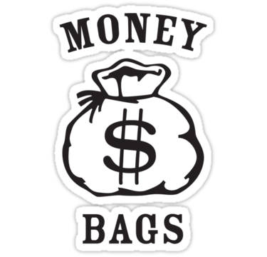 375x360 Money Bags Stickers By Elbladeo Redbubble