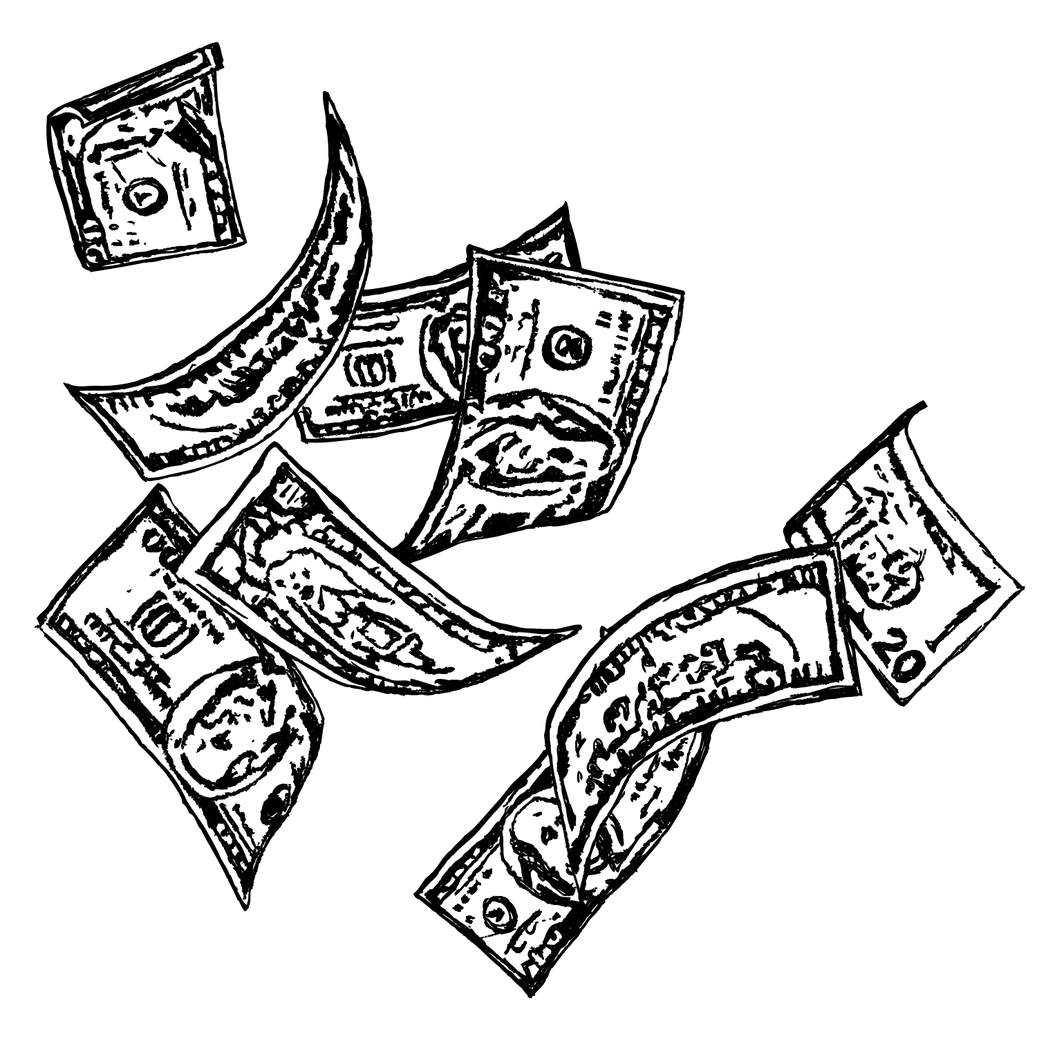 Line Drawing Money : Money drawing at getdrawings free for personal use