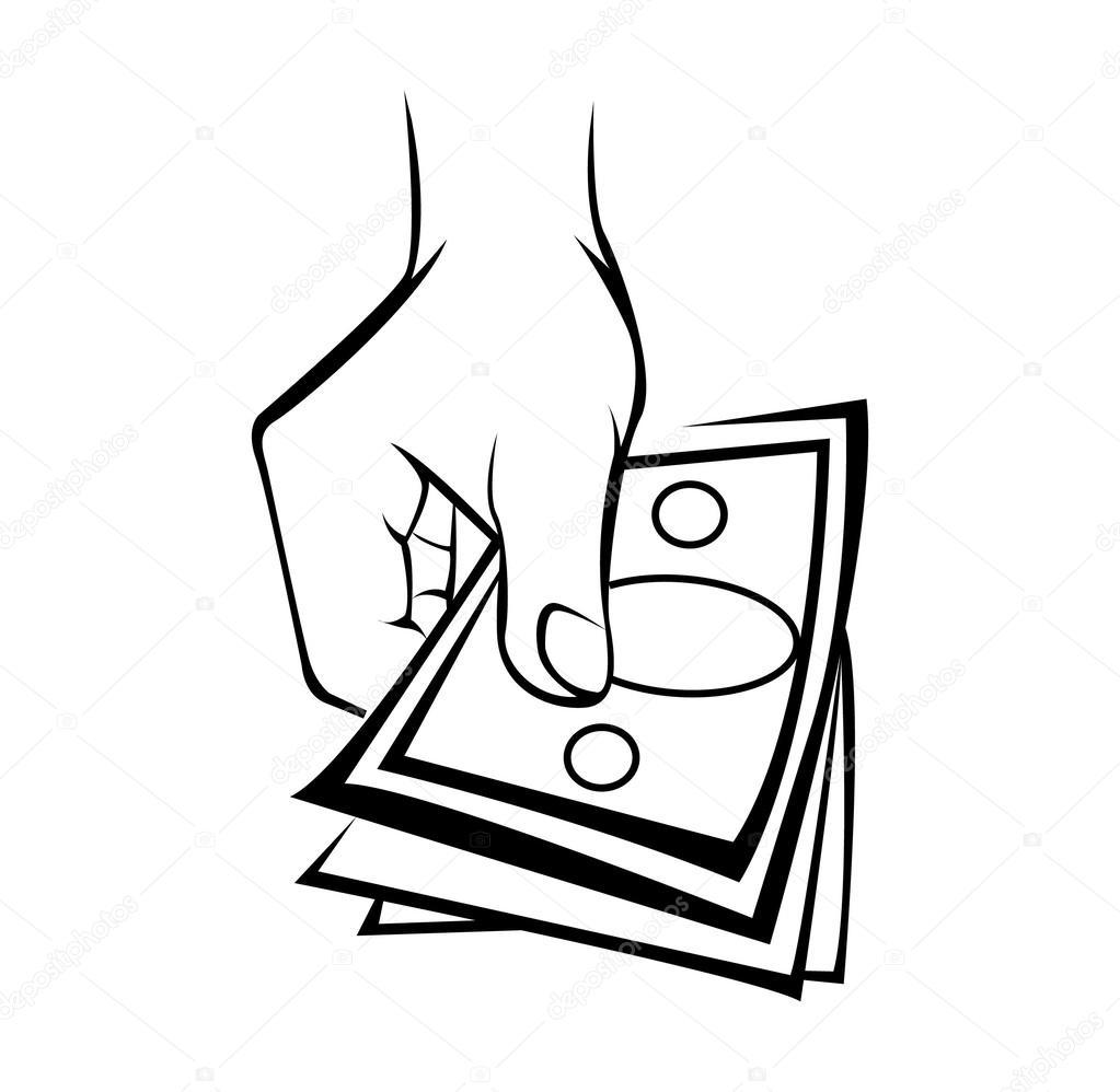 1023x998 Hand Holding Money Stock Vector Redrockerz99