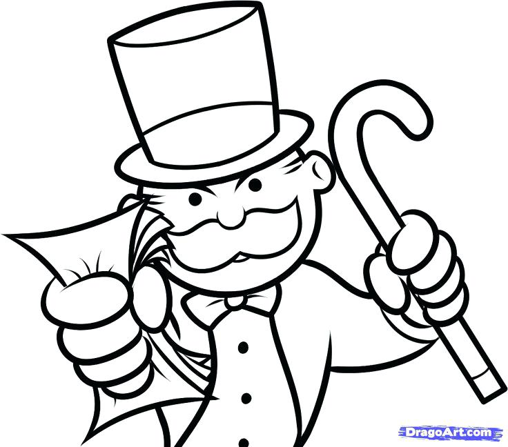 736x648 Monopoly Coloring Pages Monopoly Man Money Google Monopoly