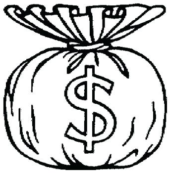 343x350 Coloring Pages Of Money Money Coins Coloring Pages Money Coloring